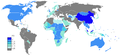 Chinese Wikipedia Page view ratio by country 201101-201112.png