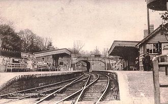 Chipping Norton - Chipping Norton railway station, opened in 1855, pictured here in the early 1900s