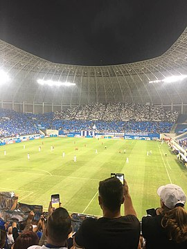 Craiova fans choreography. Choreography in the Stadionul Ion Oblemenco.jpg