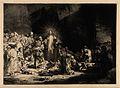 Christ amongst sick people and Pharisees ('The hundred guild Wellcome V0034896.jpg