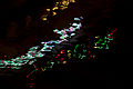 Christmas lights reflected on moving water, Tiburon, CA.jpg