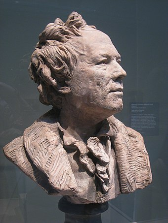 Bust of Gluck, whose face was noticeably pockmarked Christoph Willibard Gluck by Jean-Antoine Houdon.jpg