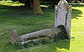 Church of St Mary, High Easter, Essex, England - graveyard barrel tomb at south-east 01.jpg