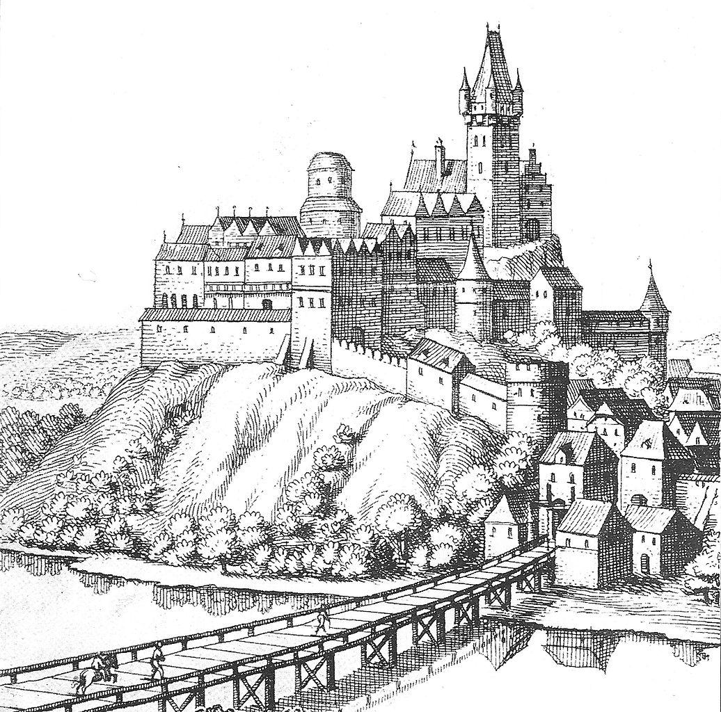 File Cieszyn Merian 1650 Zamek Jpg Wikimedia Commons