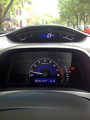 Electronic instrument cluster - Digital speedometer in Honda Civic, 8th generation