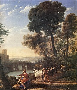Claude Lorrain - Landscape with Apollo Guarding the Herds of Admetus - WGA04995