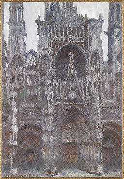 Claude Monet, The Portal of Rouen Cathedral, le Portal vu de face