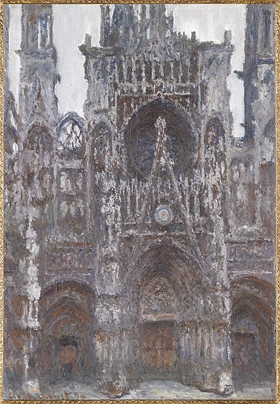 file claude monet the portal of rouen cathedral le portal vu de wikipedia. Black Bedroom Furniture Sets. Home Design Ideas