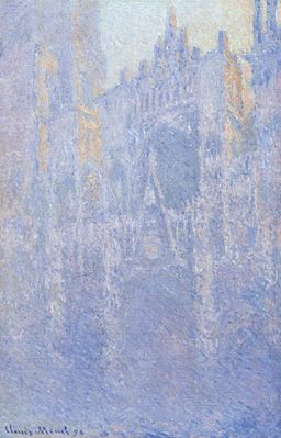 Claude Monet - Rouen Cathedral, Facade (Morning effect)