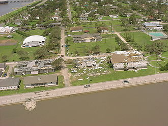 Hurricane Claudette (2003) - Overview of damage in Palacios