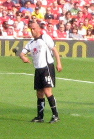 Claus Jensen - Claus Jensen playing for Fulham.