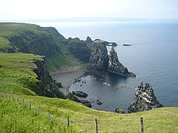 Cliff scenery south of West Lighthouse, Rathlin Island - geograph.org.uk - 646842.jpg