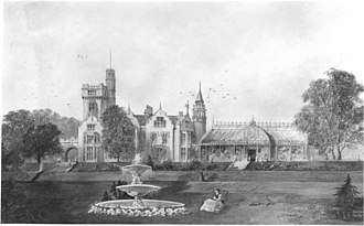 Cliffe Castle Museum - Cliffe Hall, later Cliffe Castle, circa 1880