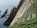 Climbers on the rock face on the south side of Baggy Point - geograph.org.uk - 2118089.jpg