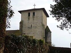Clocher - église de montfort en Chalosse.JPG