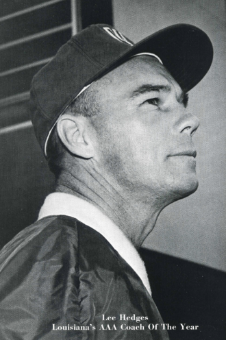 Lee Hedges - Hedges in his last year at Woodlawn High School in Shreveport (1966 Woodlawn Accolade yearbook)