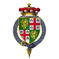 Coat of Arms of Sir Lewis Robessart, Lord Bourchier, KG.png