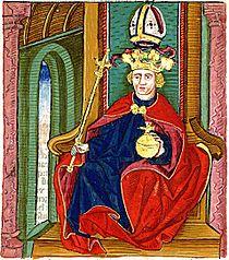 Kálmán ábrázolása a Thuróczi-krónikában