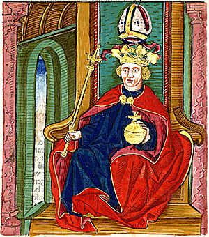 Coloman, King of Hungary - Coloman depicted in János Thuróczy's Chronicle of the Hungarians