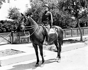"Battle of Ciudad Juárez (1919) - Col. Selah H.R. ""Tommy"" Tompkins on June 16, 1919, at the Ciudad Juarez Racetrack."