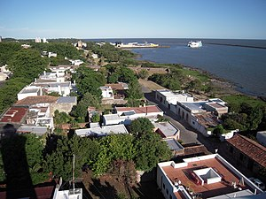Colonia del Sacramento with ferry port.JPG