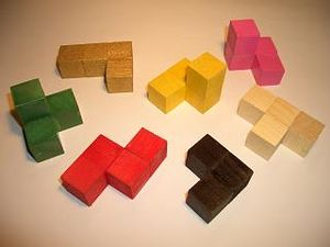 Colored-Soma-cube-pieces