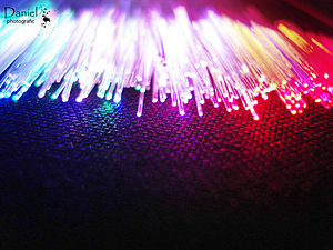 English: colorful fiber light