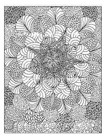sample pages of adult coloring books | Motivation and emotion/Book/2015/Meditative colouring and ...