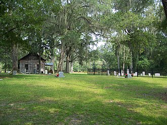 National Register of Historic Places listings in Columbia County, Florida - Image: Columbia Falling Creek Church cemetery 01