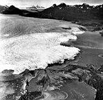 Columbia Glacier, Calving Terminus with Oblique View of Valley Glacier, Heather Island, October 8, 1975 (GLACIERS 1259).jpg