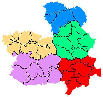 Castilla-La Mancha - Comarcal division of Castilla-La Mancha.