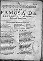 Comedia Famosa de don López de Cardona, by Félix Lope de Vega y Carpio.jpg