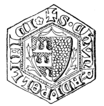 Fig. 43.—Seal of Chimrad Pellifex, 1329.