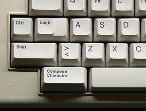 Compose key - Image: Compose key on LK201 keyboard