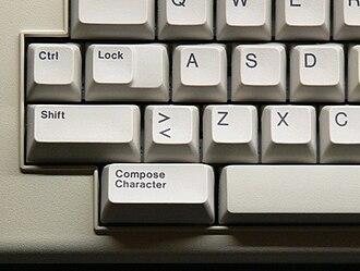 Compose key - Image: Compose key on LK201 keyboard