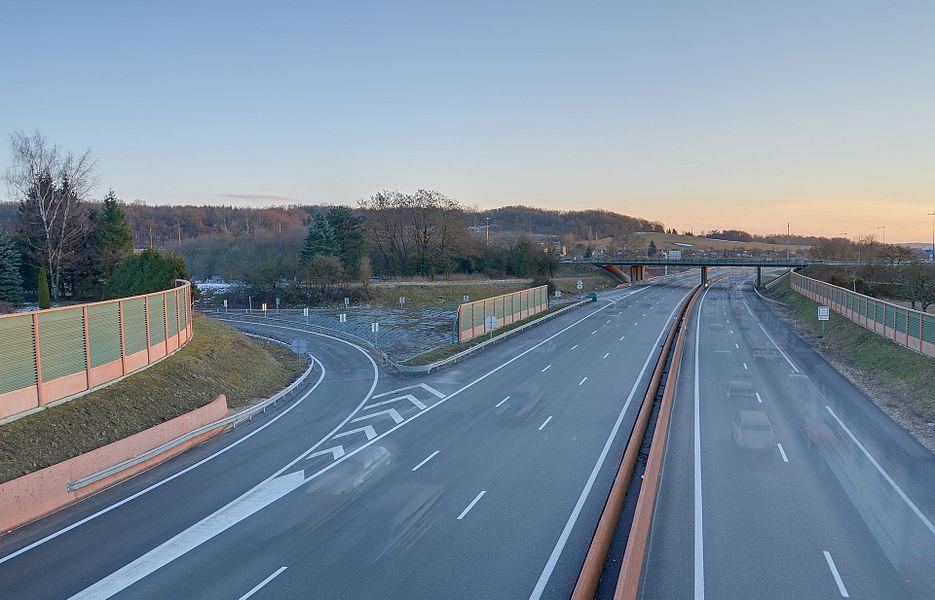 L'autoroute A36.  Image HDR composée de 8 photos.
