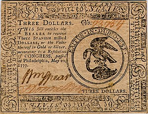 Continental Currency $3 banknote obverse (May 20, 1777).jpg