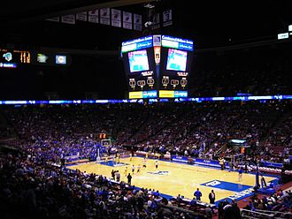 Meadowlands Arena - The arena, when it was named Continental Airlines Arena, during a Seton Hall college basketball game