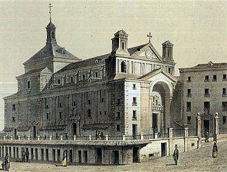 Convento de San Felipe el Real - The Convento de San Felipe el Real in a woodcut of 1878.