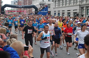 Copenhagen Marathon - The start of the mass race in 2008