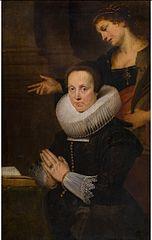 Barbara Kegeleers with Saint Barbara
