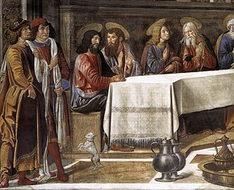 Last Supper (Rosselli) - Detail.