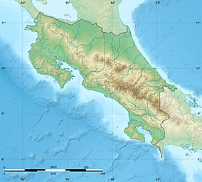 Map showing the location of Guanacaste National Park