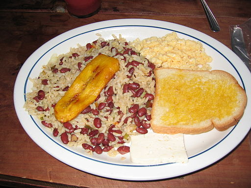 Costa Rican Cuisine Breakfast
