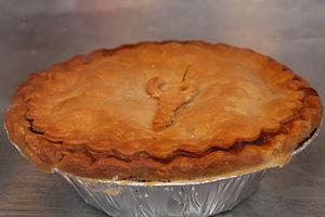 Crawfish pie - Crawfish pie closeup