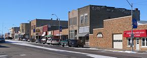 Creighton, Nebraska N side Main St W from Chase Av.JPG