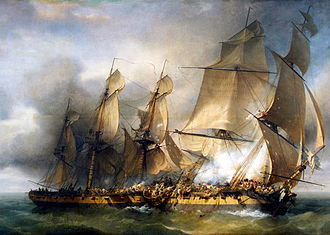 Campaigns of 1798 in the French Revolutionary Wars - In an isolated incident near Île d'Aix, the crew of the vastly outgunned corvette Bayonnaise boarded the British Ambuscade and won her, in some of the bloodiest hand-to-hand fighting of 1798.