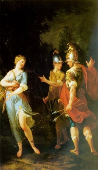 Achates (Aeneid) - Venus appearing to Aeneas and Achates by Donato Creti  (turn of the 17/18th c.)