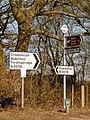 Cripplestyle, signs at Batterley Drove - geograph.org.uk - 1741233.jpg
