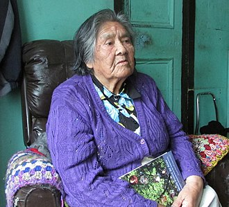 Yaghan people - Cristina Calderón the last living full-blooded Yaghan person in 2013.